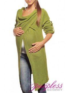 Maternity Cardigan 9001 Green
