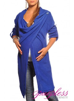 Maternity Cardigan 9001 Royal Blue
