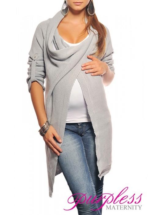 Maternity Cardigan 9001 Light Gray
