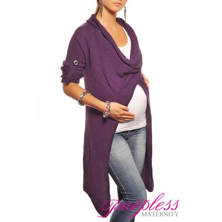 Maternity Cardigan 9001 Dark Violet