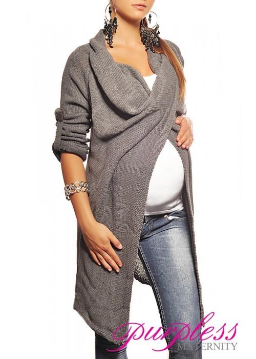 Maternity Cardigan 9001 Dark Gray