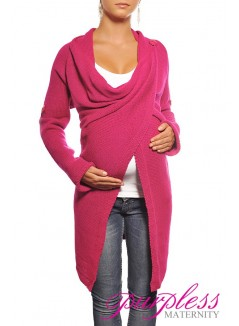 Maternity Cardigan 9001 Dark Pink