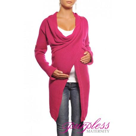 Maternity Cardigan 9001 Dark Pink