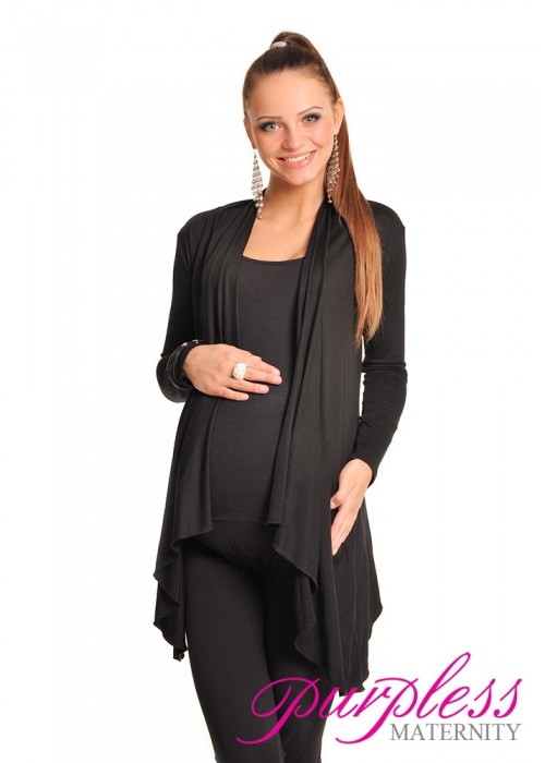 Waterfall Cardigan 4008 Black
