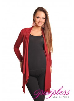 Waterfall Cardigan 4008 Burgundy