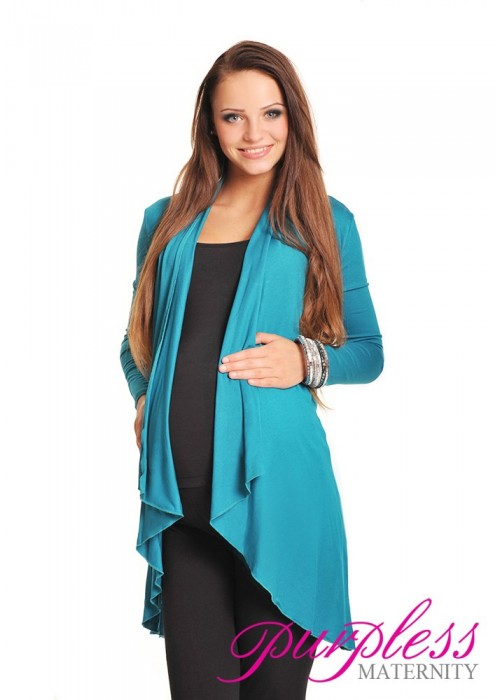 Waterfall Cardigan 4008 Dark Turquoise - Purpless Ltd