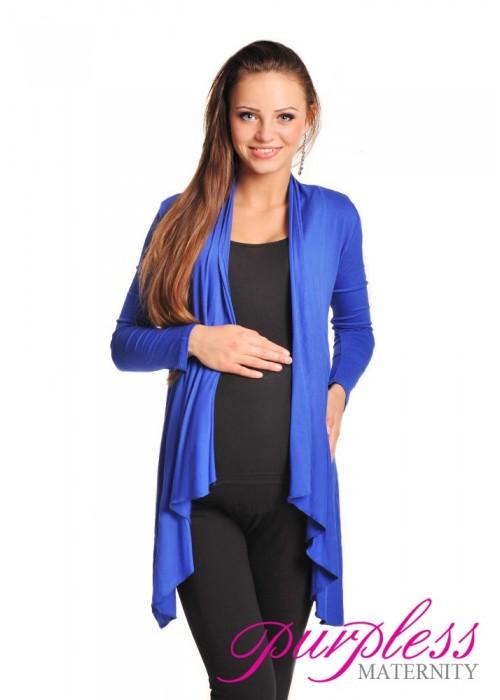 Waterfall Cardigan 4008 Royal Blue - Purpless Ltd