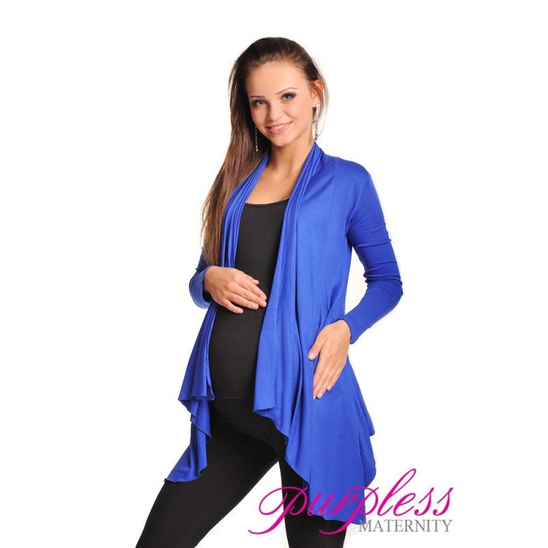 Waterfall Cardigan 4008 Royal Blue - Purpless Ltd