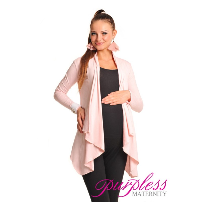 Waterfall Cardigan 4008 Light Pink - Purpless Ltd