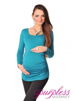 Long Sleeve Top 8041 Dark Turquoise