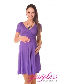 Short Sleeve Summer Dress 8417 Violet