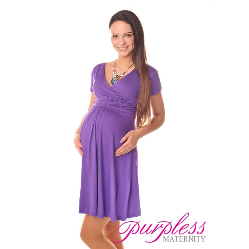 Short Sleeve Summer Dress 8417 Violet Purpless Ltd