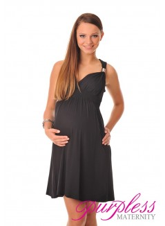 Maternity Summer Party Sun Dress 8423 Black