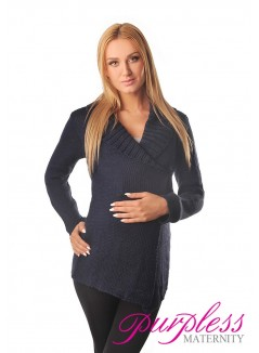 Wrap Over Cardigan Pregnancy Nursing 9002 Navy