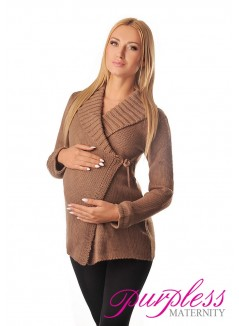 Wrap Over Cardigan Pregnancy Nursing 9002 Cappuccino