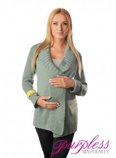 Wrap Over Cardigan Pregnancy Nursing 9002 Mint