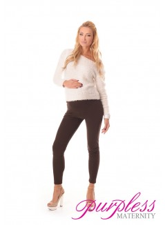 Stretchy Maternity Leggings 1000 Brown
