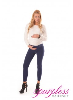 Stretchy Maternity Leggings 1000 Navy