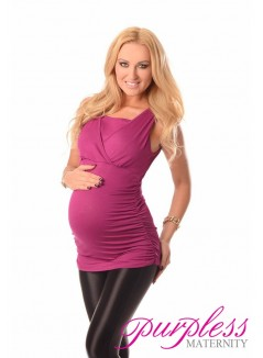 2 in 1 Maternity and Nursing Top 7005 Dark Pink