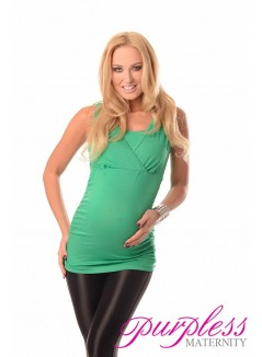 2 in 1 Maternity and Nursing Top 7005 Green
