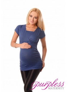 2 in 1 Maternity and Nursing Top 7006 Jeans