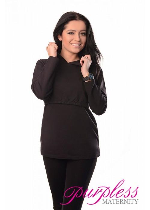 55665ebb25b45 Nursing Hoodie 9051 Black - Purpless Ltd
