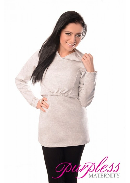 Nursing Hoodie 9051 Light Gray One