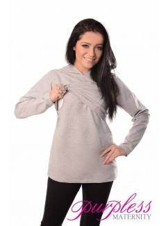 Nursing Hoodie 9051 Light Gray Two
