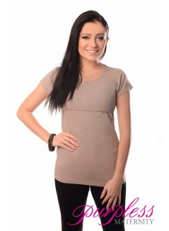 Nursing Short Sleeved Top 7020 Light Cappuccino