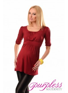 Tunic Scoop Neck 5006 Burgundy