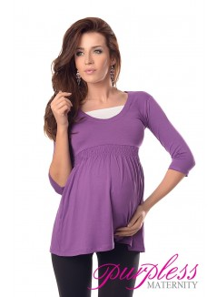 Marvellous Maternity Top 5200 Violet