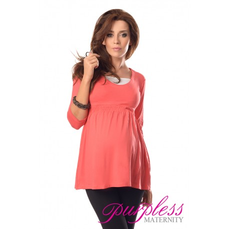 Marvellous Maternity Top 5200 Coral