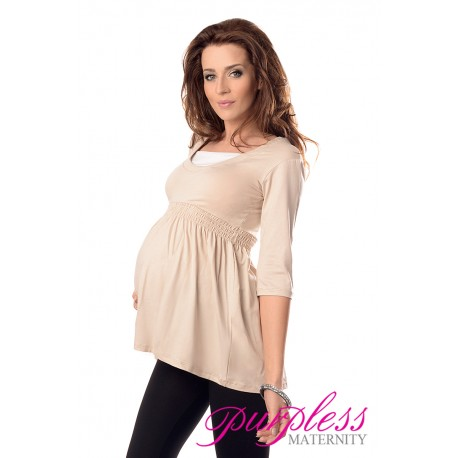 Marvellous Maternity Top 5200 Beige