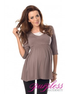 Marvellous Maternity Top 5200 Cappuccino