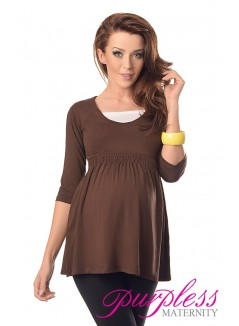 Marvellous Maternity Top 5200 Brown