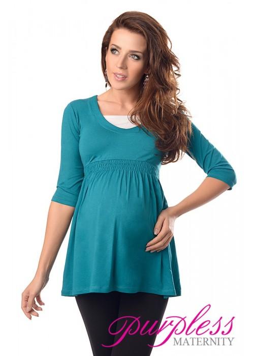 Marvellous Maternity Top 5200 Dark Turquoise