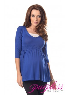 Marvellous Maternity Top 5200 Royal Blue