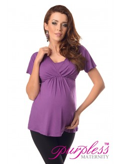 2in1 Maternity & Nursing Top 7042 Violet