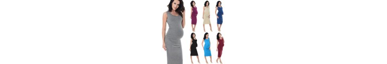 8130 Ruched Midi Jersey Dress