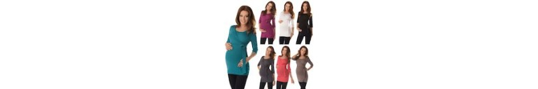 7035 3/4 Sleeved Wrap Nursing Top