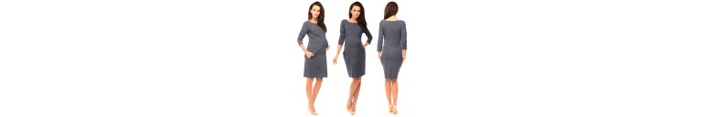 6100 Denim Look Dress with Pockets