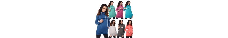 9054 2in1 Cowl Neck Sweatshirt