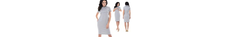 6225 Nursing Funnel Neck Dress